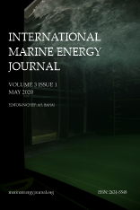 Front cover of IMEJ Vol 3 Issue 1 featuring turbulence in a laboratory flume